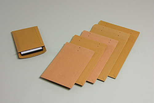 BUCHBOX K Cardboard Mailing Bags for Clasp or Staple Closure