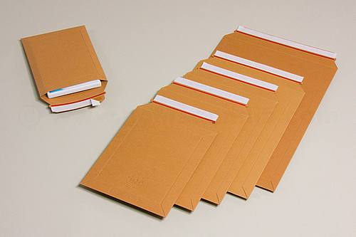 BRIEFBOX Cardboard Mailing Bags with Peel and Seal