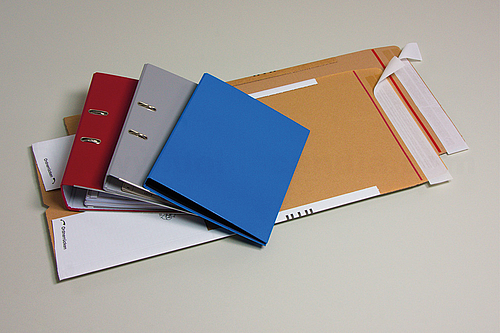 VARIA T-PACK FILES File Mailing Packaging with Self-adhesive Closure