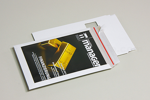 FIXCOLL DISPLAY Cardboard Mailing Bags with Large Advertising Window
