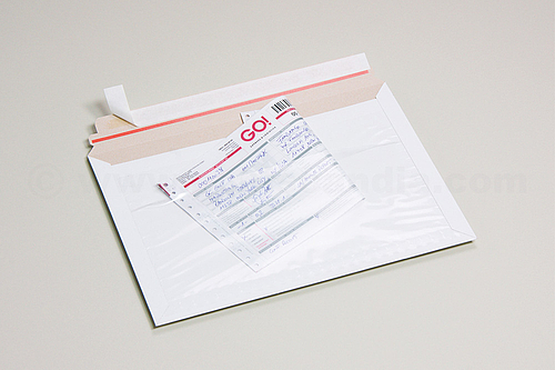 FIXCOLL CEP Cardboard Courier Envelopes with Waybill Pouch