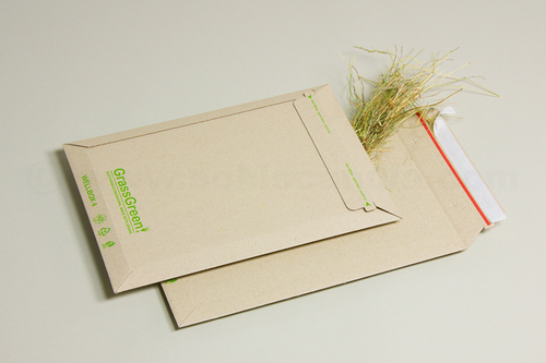 WELLBOX GrassGreen! Versandtaschen aus Gras-Wellpappe